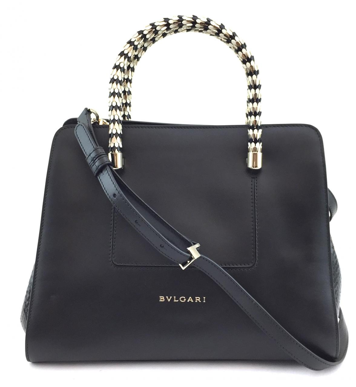 0ad6d504b The Icona Top Handle bag is another cult classic from Bvlgari obtainable in  calf-skin exotic or leather alligator skin in a range of colours.